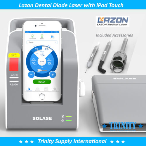 Lazon Dental Diode Laser 16 Watts Complete Set with 30 Tips + iPod Touch