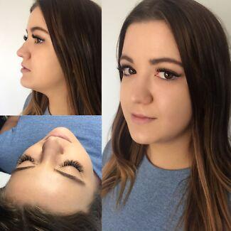 Eyelash extensions classic volume Russian eyebrow lash tint lift perm