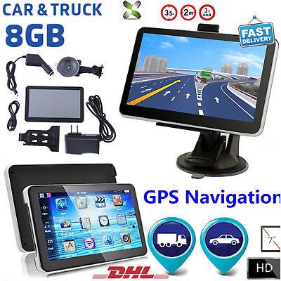 7 Zoll Auto Truck Bus GPS Navigationsgerät POI Navigation Navi Bluetooth 8GB