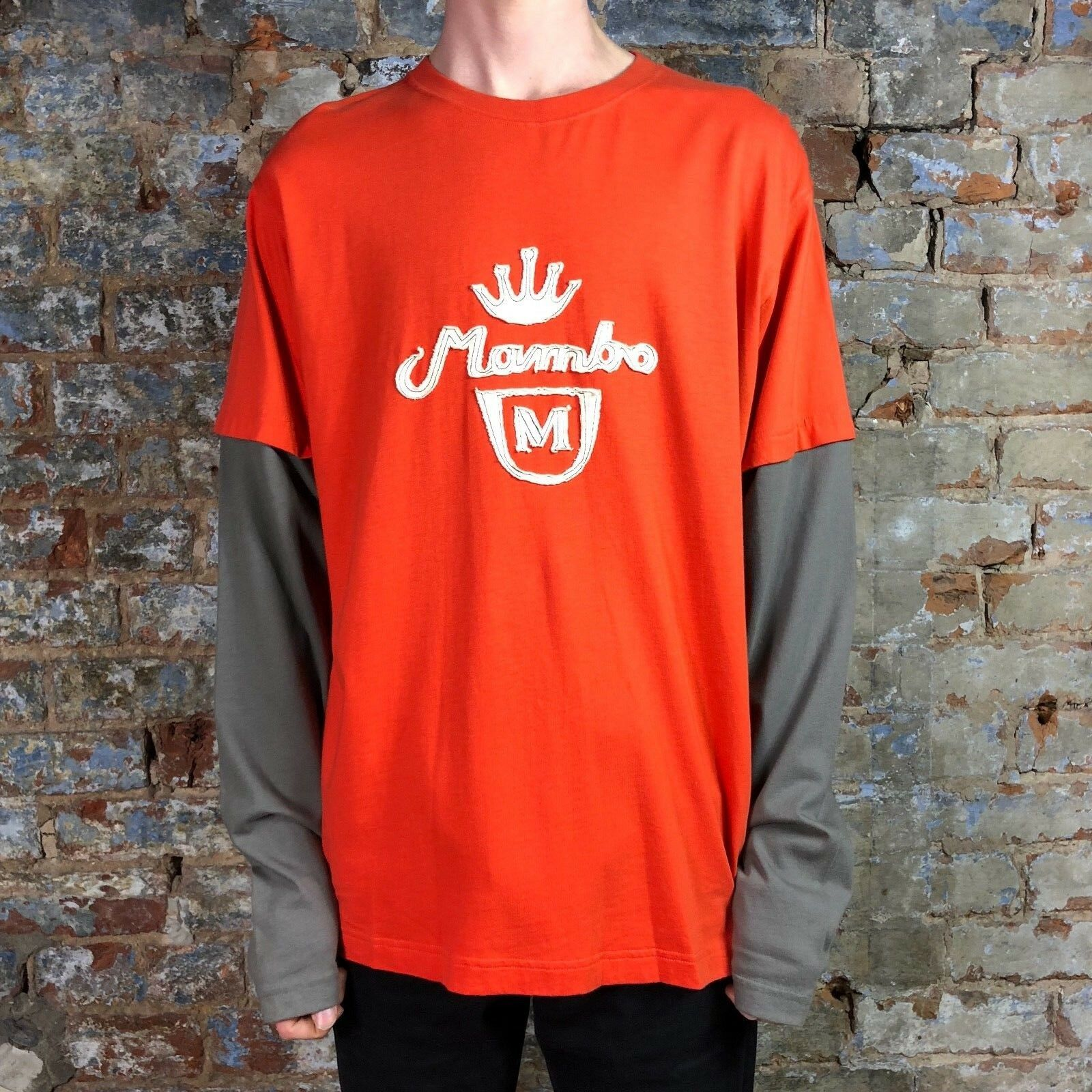 Details about Mambo Long Sleeve Screen T-Shirt Burnt Orange size S d38e538e2