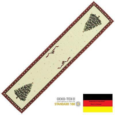 Sandner Tannenbaum Tischläufer 30 x 135 cm WEIHNACHTEN Tischdecke Läufer Gobelin