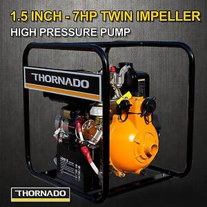 Thornado 1.5 Inch DIESEL Water Pump 7HP E-Start Fire Fighting Chipping Norton Liverpool Area Preview