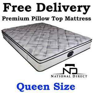 QUEEN Size PREMIUM Pillow Top Mattress BRAND NEW Delivered FREE Strathpine Pine Rivers Area Preview
