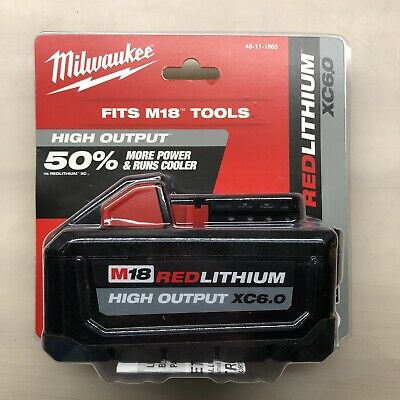 Milwaukee 48-11-1865  M18 6 Amp Battery New 2 DAY SHIPPING