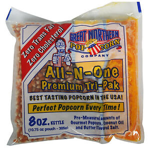Great Northern Popcorn 1 Case (24) of 8 Ounce Popcorn Portion Packs Kit Cinema