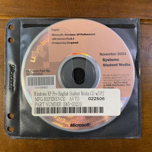 Microsoft Windows XP Pro Professional Edition SP2  Service Pack Student Media