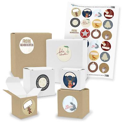 e Geschenkboxen mit Aufkleber (beschreibbar) Weihnachten (Klein Weihnachten Geschenk-boxen)