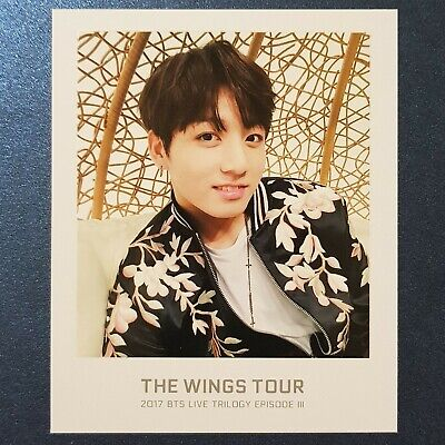 JungKook - BTS The WINGS TOUR Official Ticket Album Photo
