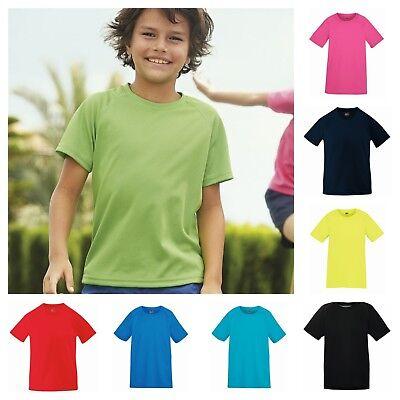 High Performance Kids T-shirt (Fruit of the Loom Kids High Performance Short Sleeve T-Shirt in Bright)