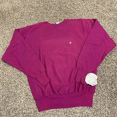 Vintage 90s Champion Pink Purple Reverse Weave Embroidered Sweatshirt Size 2XL