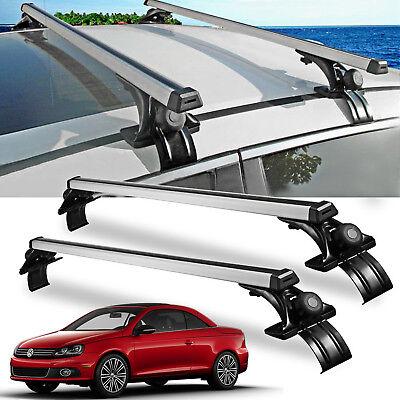 "For VW Jetta Car Sedan Luggage CrossBar Roof Rack Carrier Window Frame+Clamp 48"""