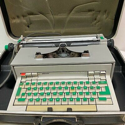 1960's Olivetti Underwood PRAXIS 48 Electric Typewriter MODERN DESIGN w/ Case