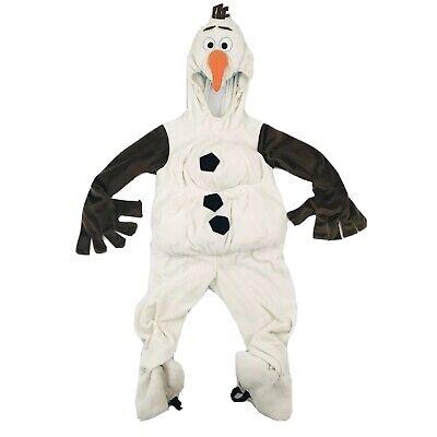 Disney Store Kid's Frozen Olaf Plush Costume Sz 5/6 Halloween Dress Up Snowman