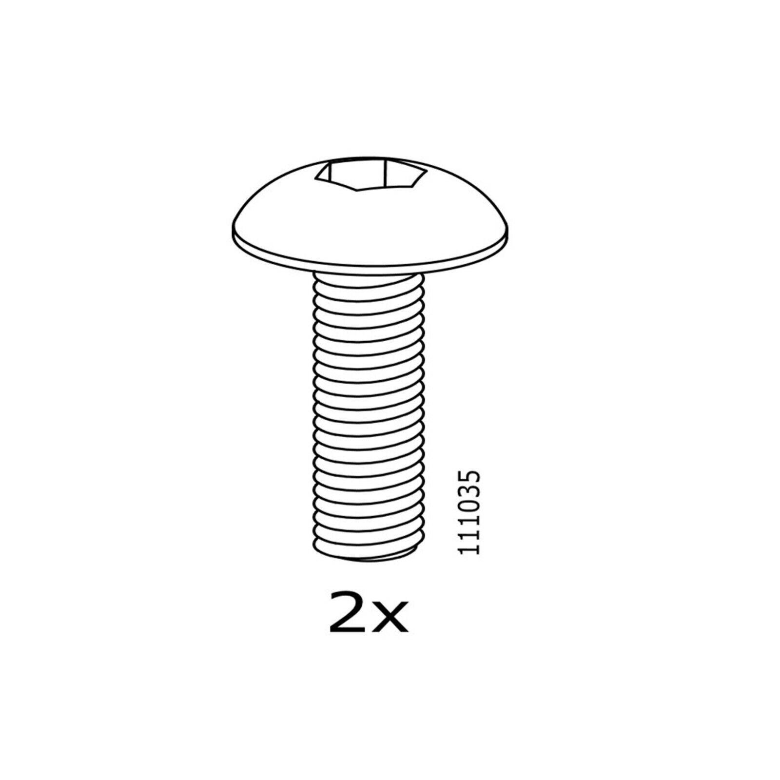 2 IKEA Plastic  Screws Part # 130884