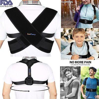 Mens Neck Brace - Men Women Kids Adults Posture Corrector Support Back Shoulder Neck Brace Belt