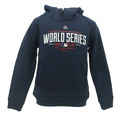 2014 World Series MLB Majestic Kids Youth Size Athletic Hooded Sweatshirt New (Majestic Athletic Hood)