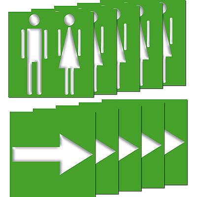 Aufkleber Toilettenschild Wegweiser Geher grün Ampelmann Ø 10 cm PVC-Folie