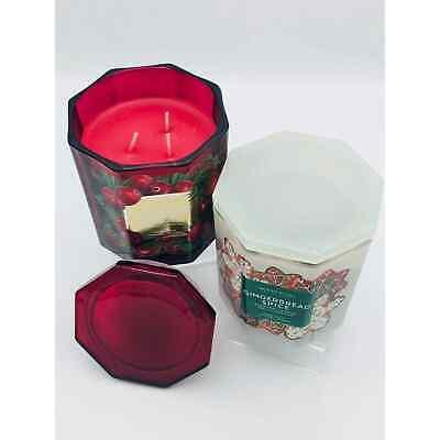 Harry Slatkin Homeworx Holiday Candle Set Cranberry Balsam & Gingerbread Spice