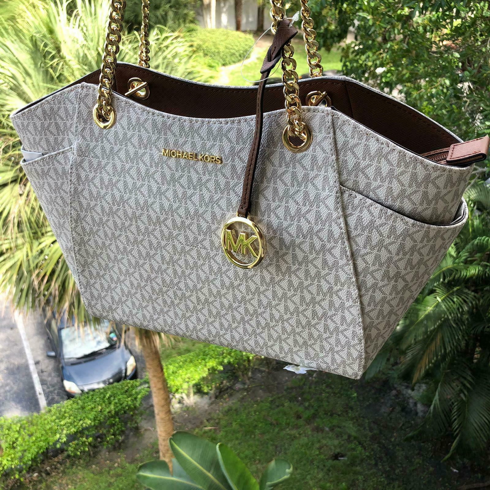 Michael Kors Women Leather Shoulder Tote Handbag Purse Satch
