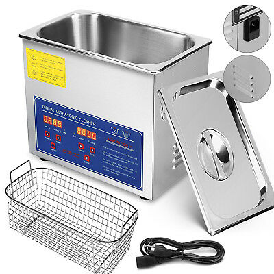 Stainless Steel Industry Ultrasonic Cleaner 3l Heated Heater Wtimer