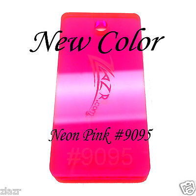 Neon Pink 9095 12x6x18 Acrylic Sheet Color Plastic Plexiglass Supplies-sale