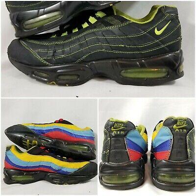 e512c232cfed Nike Air Max 95 Cool Red Neon Volt Blue Black Mens Size 10 Rare Vintage OG