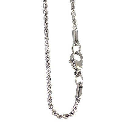 Nickel Steel Chain - Surgical Stainless Steel Rope Chain Necklace 3mm 18-30 Inch Hypoallergenic