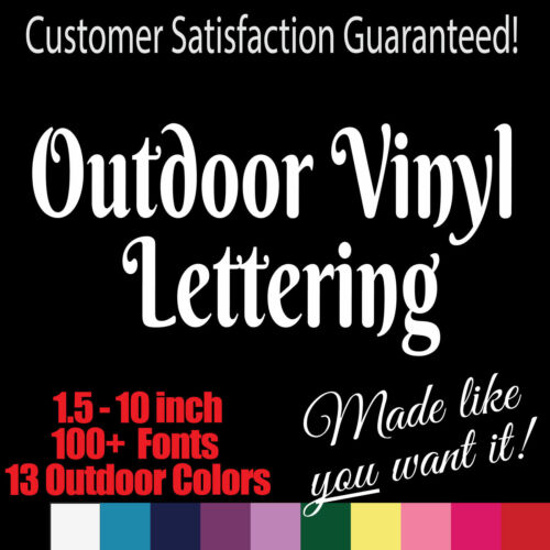 Home Decoration - Custom Outdoor Vinyl Lettering. Window Truck Jeep Decal Sticker