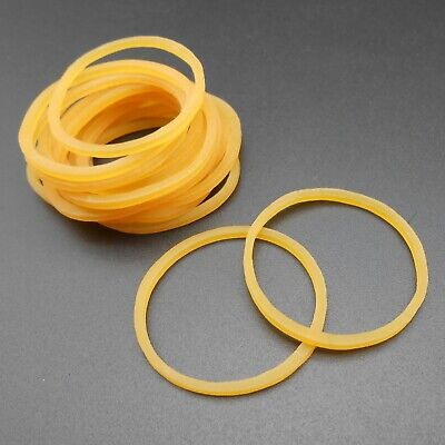20pcs Rubber Band Drive Belt Pulley Model Motor Diy Toys 1.5mm X 28mm Yellow Diy