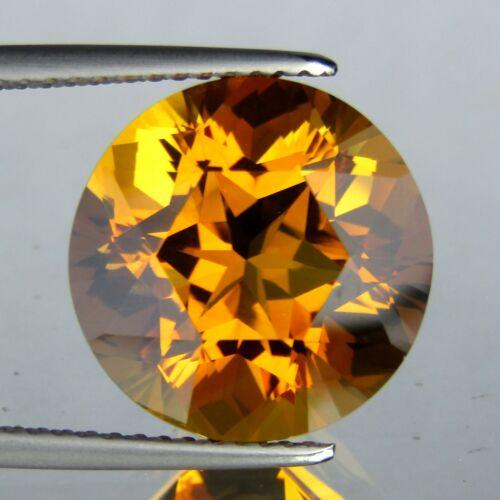 8.00CTS FLASHING ROUND SHAPE 100% NATURAL GOLDEN ORANGE CITRINE12.9MM LOOSE GEMS