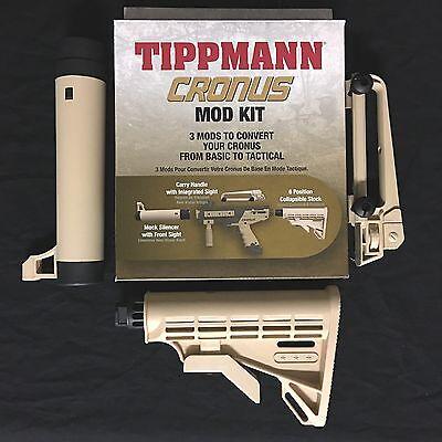 NEW Tippmann Cronus Tactical Upgrade Mod Kit (T241001) - 3 Piece Set - Tan/Black