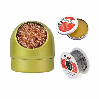 Soldering Iron Tip Cleaner 60-40 Solder Wire Reel Fine 0.6mm Tin Lead Rosin...