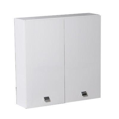 Pensile lavanderia o bagno 2 ante arredo interno 70 cm bianco lucido legno