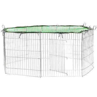 Enclos avec filet de protection extérieur cage à lapin parc petits animaux vert d'occasion  Momignies