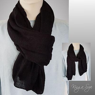 Herren Schal * men's scarf Herrenschal Winterschal Webschal - schwarz - HC 4