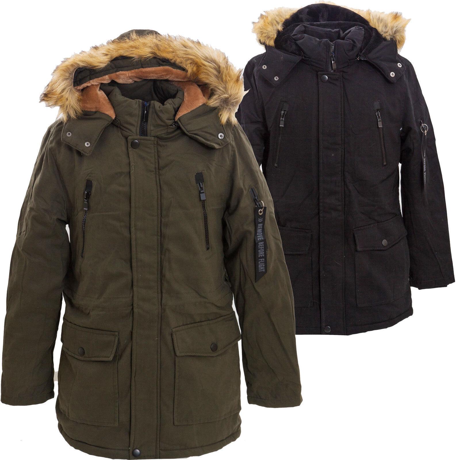 mode designer 399a4 4dec0 Détails sur Parka homme veste à capuche manteau de fourrure écologique  chaud long neuf YT308
