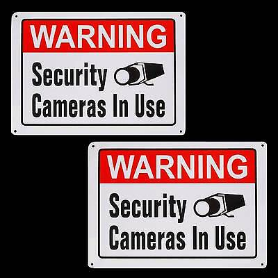 Metal Spy Security Cctv Video Surveillance Camera System Warning Yard Signs Lot