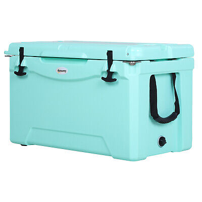 50Q Ice Cooler Outdoor Insulated Cooling Box Portable
