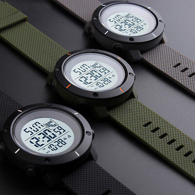SKMEI Mens Military LED Digital Date Countdown Timer Sport Quartz Wrist Watch -