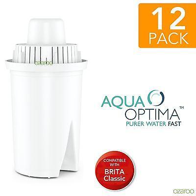 12 Aqua Optima Universal fit BRITA Classic Water Refill Replace Filter Cartridge