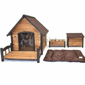 Wooden Kennel Pet Dog House Timber Log Puppy Home Outdoor Indoor2 Campbellfield Hume Area Preview