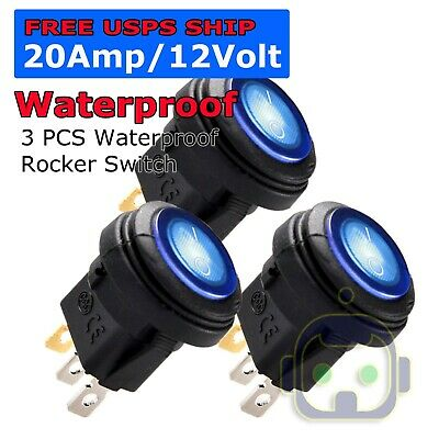 Toggle Switch Heavy Duty 20a 12v Spst 2 Terminal Onoff Car Waterproof Boot Atv
