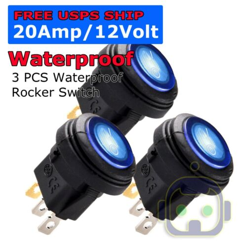 Toggle Switch Heavy Duty 20A 12V SPST 2 Terminal ON/OFF Car Waterproof Boot ATV
