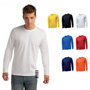 Hanes-ComfortSoft-100-Cotton-Long-Sleeve-Crew-Neck-T-shirt-for-Men