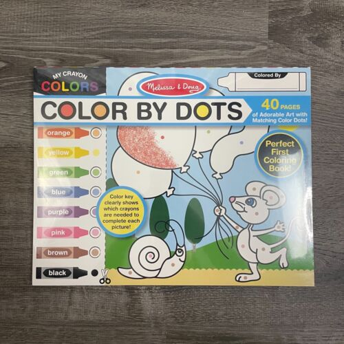 Melissa & Doug Activity Pad Color By Dots My Crayon Colors Pad 40 pages 11x14 in