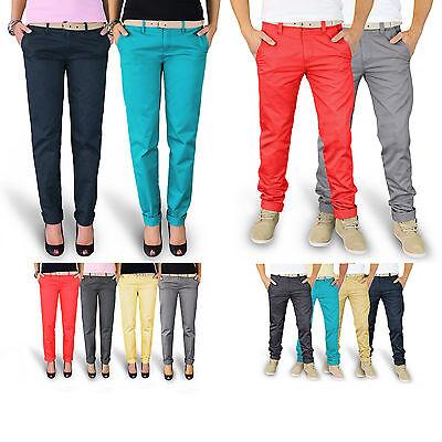 Trooper™ Raw Vintage ★ Chino Trousers Hose Damen / Herren Stoffhose Chinohose Vintage Chino