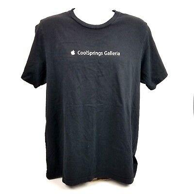 Apple Store Cool Springs Galleria  T-Shirt Black Cotton Shirt (Galleria Store)