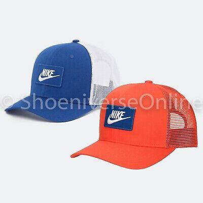 Unisex Nike Classic 99 Trucker Snapback Orange Blue Mesh Cap Hat One Size AQ9879