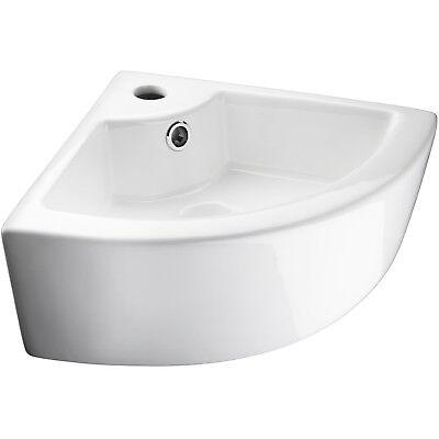 Keramik Eckwaschbecken Handwaschbecken Eck-Waschbecken Eckwaschtisch weiß Waschbecken