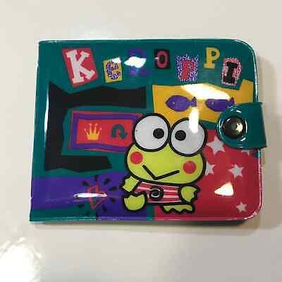 "Vintage Sanrio Kero Kero Keroppi Snap Wallet ""NIP"" 1996"
